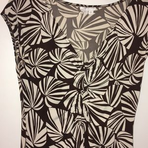 London times topical coffee and cream dress size 8